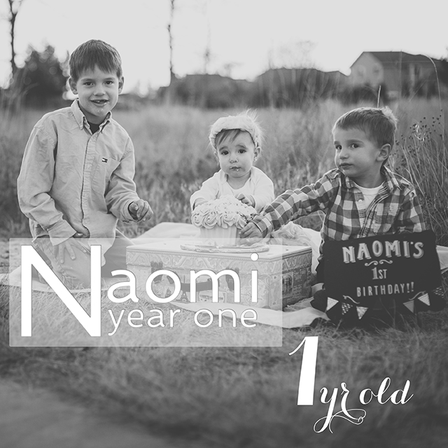Naomi Year One: ONE Year Cake Smash Celebration!